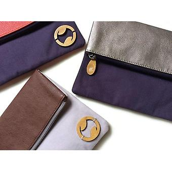 Two Toned Foldover Clutch