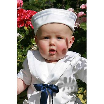 Valkoinen Sailorhat meidän Sailorsuit - Kaste Bonnet - Grace Of Sweden V.v.