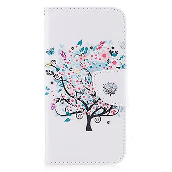 Colored Drawing Pattern Horizontal Flip Leather Case for Iphone  7Plus&8Plus,with Holder & Card Slots & Wallet(Tree)