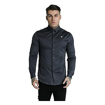 Sik Silk Siksilk Long Sleeve Shirt Navy