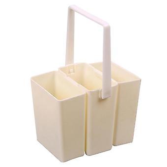 Praktické trvanlivé plastové odnímateľné umývacie pero / barel kefa umývanie vedierko