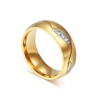 Gold Color Wedding Bands Ring/men - Stainless Steel Engagement Ring Couple