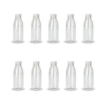 10X 500Ml Pet Juice Bottles Empty Plastic Recyclable Tamper Cap
