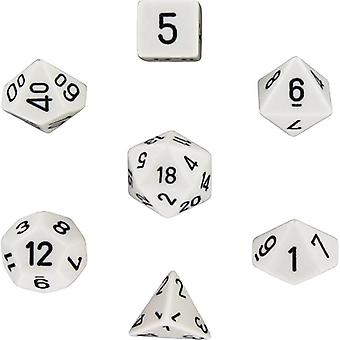 RPG Dice 7-Pack (voor Dungeons and Dragons, en meer) Wit