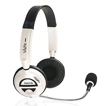 Hörlurar med mikrofon NGS MSXProWhite Vit (3,5 mm)