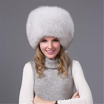 Winter Women's Real Fox Fur Hats And Headgear Russian Raccoon Fur Beanies Cap