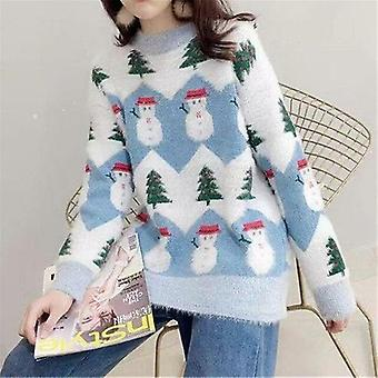 Xmas Sweater Women Casual Pullover Sweater