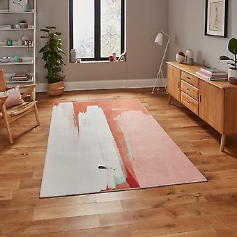 Ab0156 Modern Abstract Tapijt Door Michelle Collins In Terra Ivory