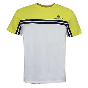 Sergio Tacchini Carey T-Shirt FärgBlock Topp Vit Gul 38143 409