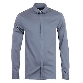 Armani Exchange Slim Fit Shirt - Blue Grey