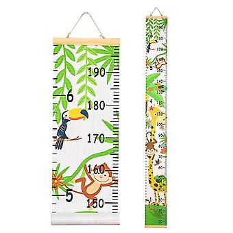Wooden Height Ruler, Wall Hanging Cartoon Pattern, Measure Growth, Chart Table