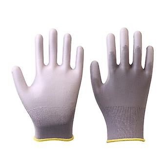 6 Pairs Gmg Ce Certificated En388 Polyester Pu Work Safety Gloves