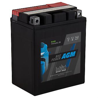 intAct YTX14AHL-BS Maintenance Free AGM Bike-Power Battery