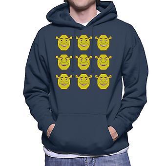 Shrek Tegn Heads Mænd's Hætteklædte Sweatshirt