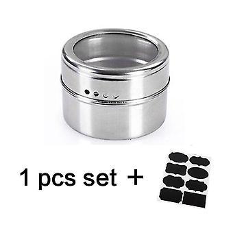Magnetische Spice Jar, roestvrij staal kruiden pot set