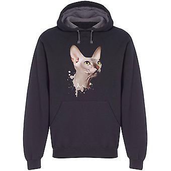 Sphynx Cat Splatter Style Hoodie Men's -Image by Shutterstock