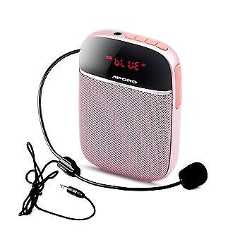 سماعة ميكروفون سلكية مكبر صوت محمولة 10 واط مع تضخيم الصوت
