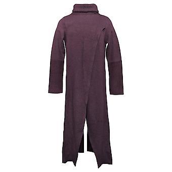G By Giuliana Women's Sweater Label Crossover Maxi Purple 718-481
