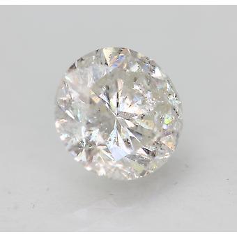 Sertifioitu 1,49 karat F SI2 pyöreä brilliant parannettu luonnollinen löysä timantti 7,13mm
