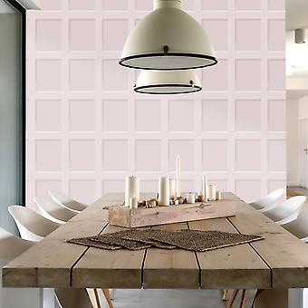 Heritage Wood Panel Wallpaper Blush Pink Debona 6744