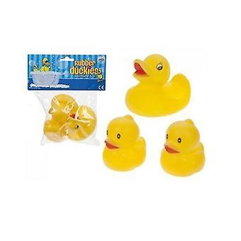 HydroKidz Rubber Duckies - Pack de 3 - Jaune