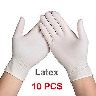 Latex Nitrile Einweg schwarz weiß Handschuhe Küche Schützende Arbeit Hand