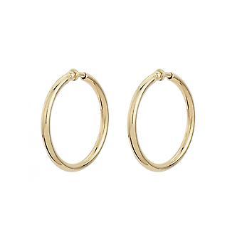 Traveller Clip Hoop Earrings 22ct Gold plated Ø 45mm - 155052