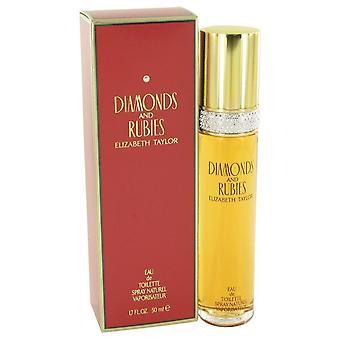 Diamonds & Rubies Eau De Toilette Spray By Elizabeth Taylor 1.7 oz Eau De Toilette Spray