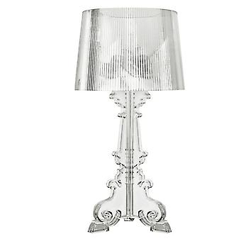 High Accent Table Lamp Transparent Bedside Crystal Bedroom Nightstand Lamp