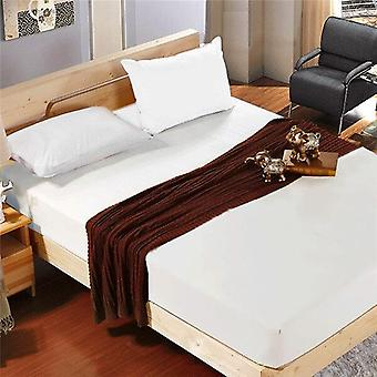Polyester Super Soft Solid Fitted Sheet Set Mattress Cover Pillowcases Four