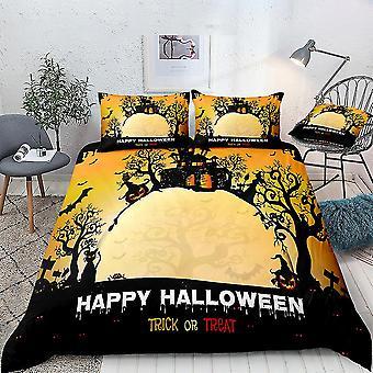 Castle Halloween Printed Bedding Set