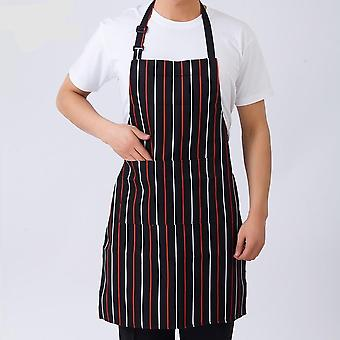 Cooking Sleeveless, Apron Stripe With Pockets Halter Bib