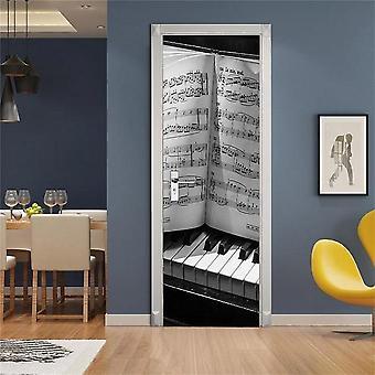 Music Design Door Decoration Wallpaper 3d Wall Sticker