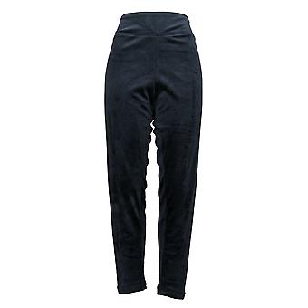 Cuddl Duds Leggings Double Plush Velour Pull On waistband Blue A293100