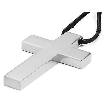 Wokex Edelstahl Blank Chunky Christus Kruzifix Kreuz Halsketten Anhnger fr Mnner mit verstellbar