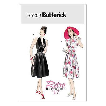 Butterick ompelu kuvio 5209 Misses Ladies Deep V-Neck Mekko Koko 14-20 Leikkaamaton