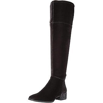 Anne Klein Women's Kimmie Velvet Fashion Boot, Black Velvet, 7.5 M US