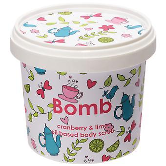 Bombe Kosmetik Body Scrub - Tranebær og lime