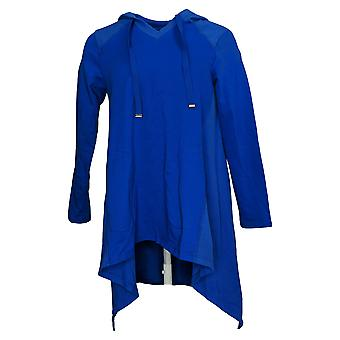 LOGO Lounge by Lori Goldstein Women's Petite Pullover Hoodie Blue A390650