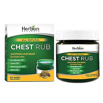 Herbion Naturals Chest Rub, 3.53 oz - Natural Soothing Ointment with Soothing Vapors.