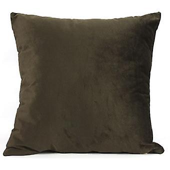 cushion Carola 40 x 40 x 15 cm textile dark brown