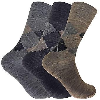 3 Pack Мужские ягнята шерсть не эластичные носки
