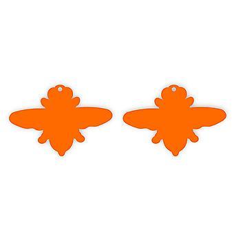 Flying Honey Bee Acrylic Earrings