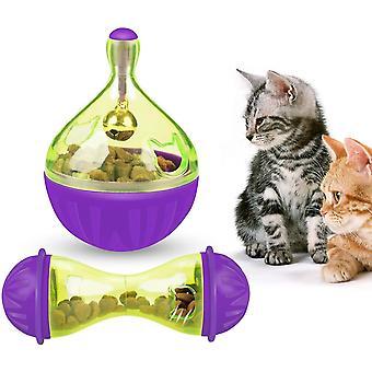 Katze Langsam Feeder Essen Ball Mäuse Wasser Tröpfchen Knochen Tumbler geformt