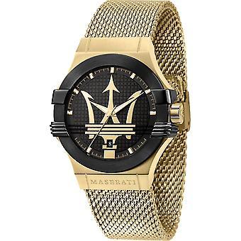 Maserati R8853108006 Men's Gold Tone Steel Mesh Potenza Wristwatch