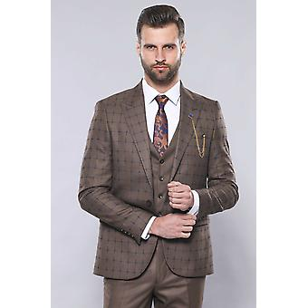 Brown checked suit | wessi