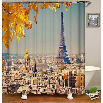 Pariisin näkymä suihkuverho