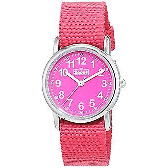 Scout 280304001 - Tyttöjen rannekello, vaaleanpunainen kangashihna