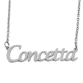 KL Kigu Concetta - Women's necklace with personalized name, fashionable jewelry, gift for girlfriend, mom, sister