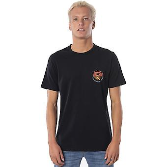 Rip Curl Distant Short Sleeve T-shirt i tvättad svart